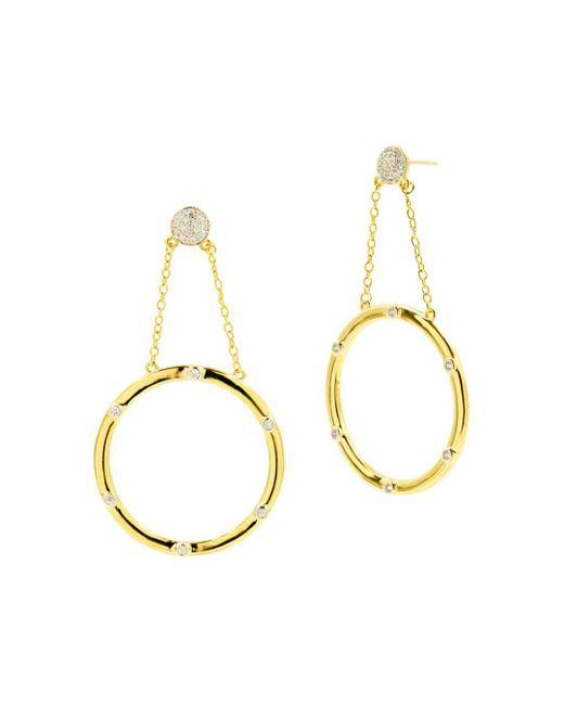 Freida Rothman - Metallic Radiance Loop Drop Earrings - Lyst