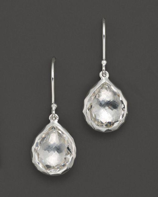 Ippolita - Metallic Sterling Silver Rock Candy Teeny Teardrop Earrings In Clear Quartz - Lyst