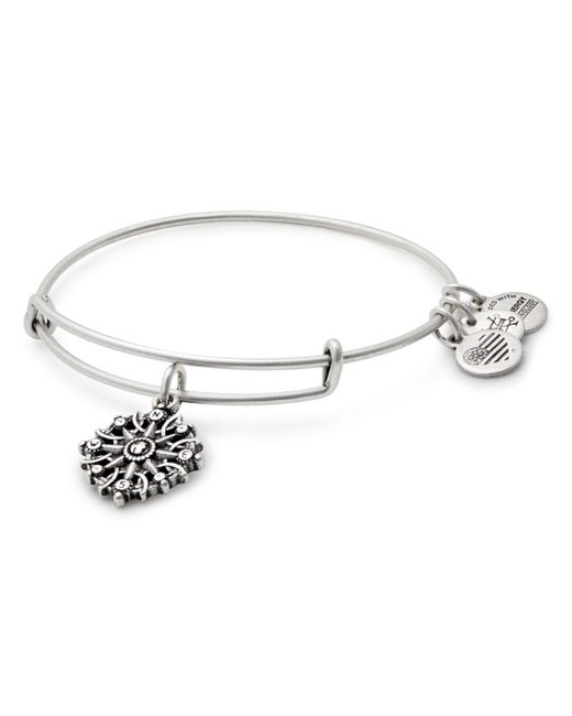 ALEX AND ANI - Metallic Compass Expandable Wire Bangle - Lyst