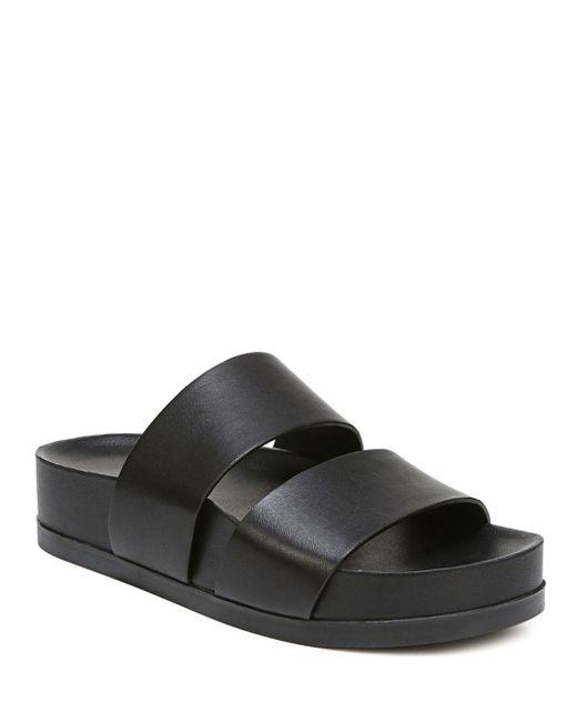 a93673990dc06 Via Spiga - Black Women s Milton Leather Platform Slide Sandals - Lyst ...
