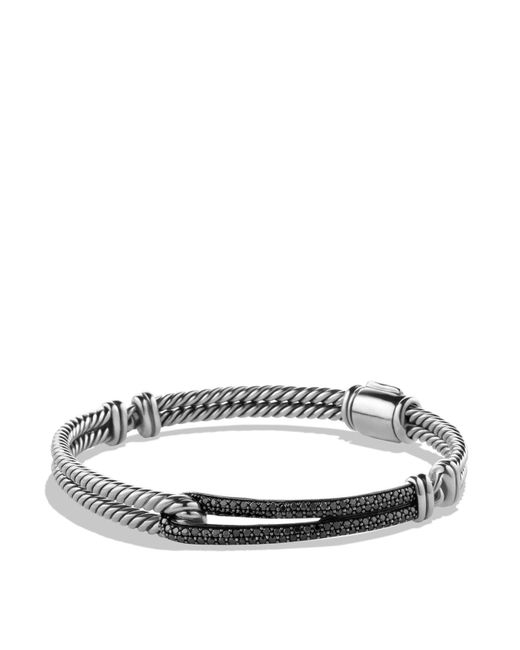 David Yurman | Petite Pavé Labyrinth Single Loop Bracelet With Black Diamonds | Lyst