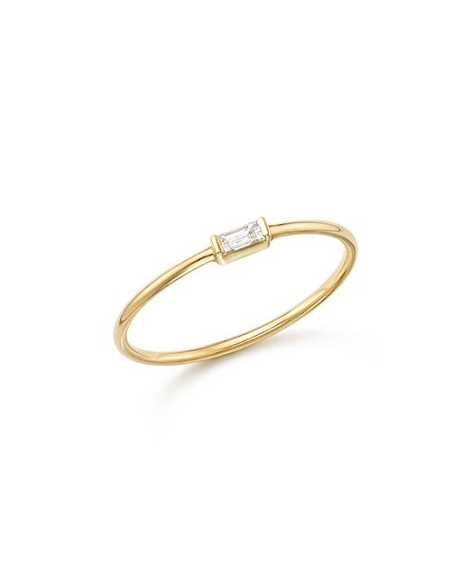 Zoe Chicco - Metallic 14k Yellow Gold Diamond Baguette Ring - Lyst