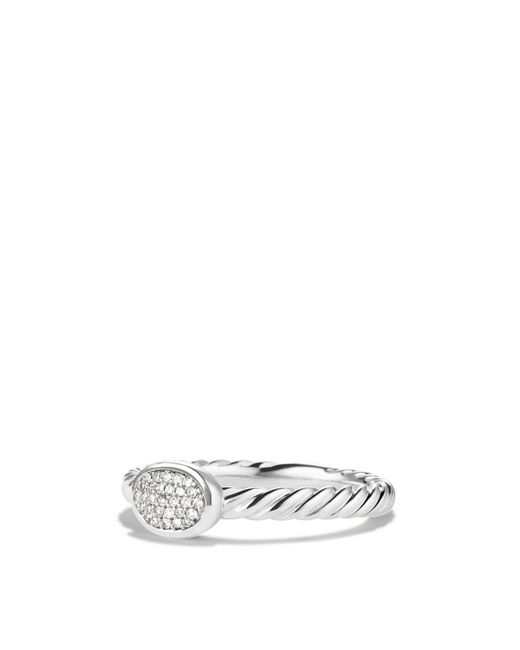 David Yurman | Metallic Cable Collectibles Oval Ring With Diamonds | Lyst
