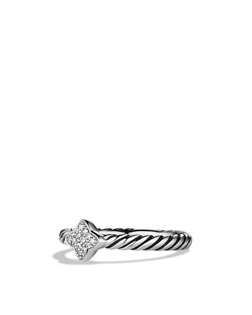 David Yurman | Metallic Quatrefoil® Ring With Diamonds | Lyst