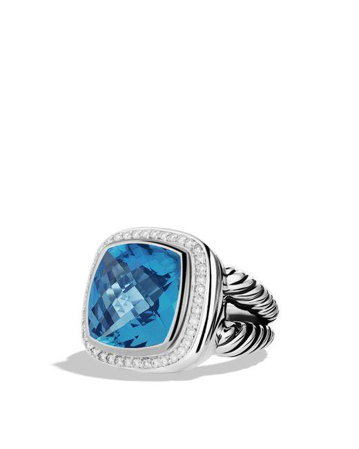 David Yurman | Albion Ring With Blue Topaz & Diamonds | Lyst