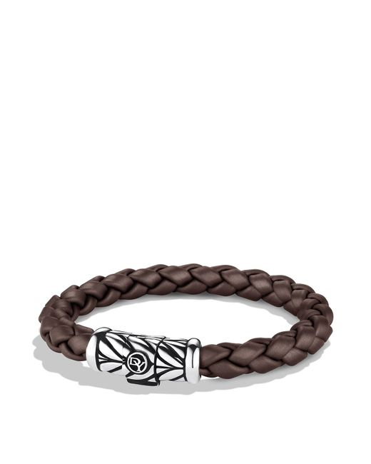 David Yurman | Metallic Chevron Bracelet In Brown | Lyst