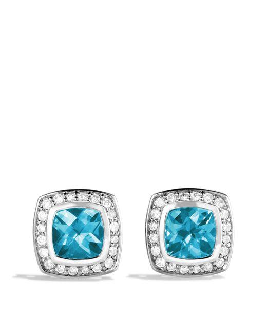 David Yurman | Petite Albion Earrings With Blue Topaz & Diamonds | Lyst