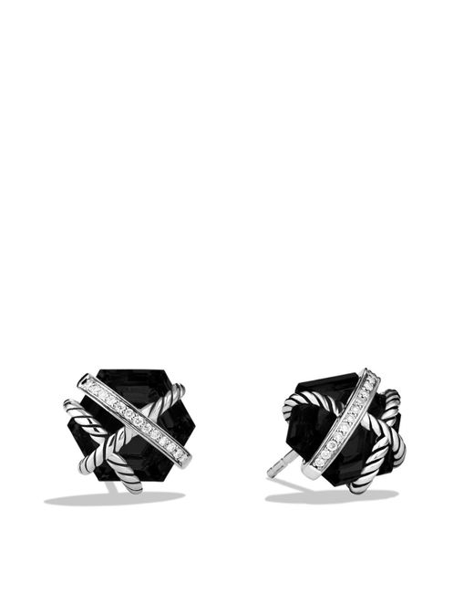 David Yurman | Cable Wrap Earrings With Black Onyx And Diamonds | Lyst