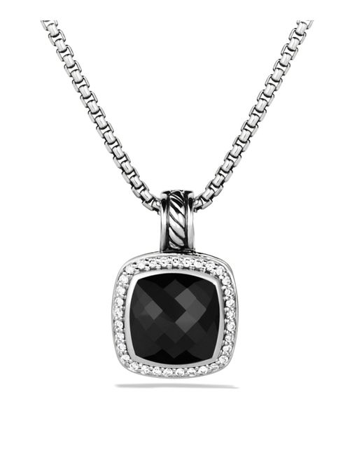 David Yurman   Metallic Albion Pendant With Black Onyx & Diamonds   Lyst
