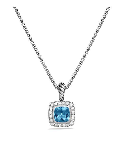 David Yurman | Petite Albion Pendant With Hampton Blue Topaz And Diamonds On Chain | Lyst