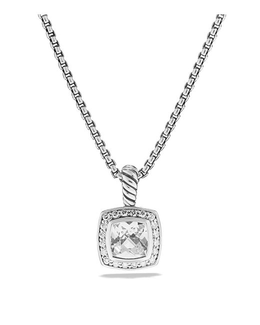 David Yurman | Petite Albion Pendant With White Topaz And Diamonds On Chain | Lyst