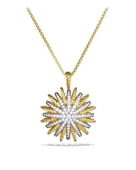 David Yurman | Yellow Starburst Large Pendant With Diamonds On Chain | Lyst