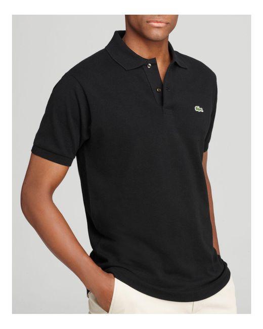 052b94f04 Lacoste - Black Short Sleeve Piqué Polo Shirt - Classic Fit for Men - Lyst
