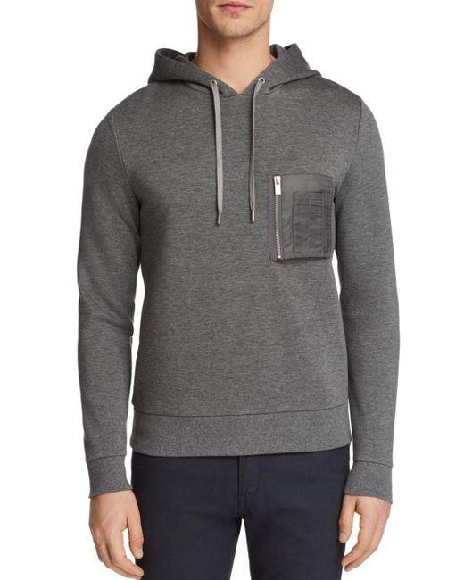 The Kooples - Gray Zip Hoodie Sweatshirt for Men - Lyst