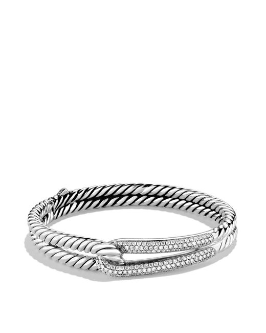 David Yurman | Metallic Labyrinth Single-loop Bracelet With Diamonds | Lyst