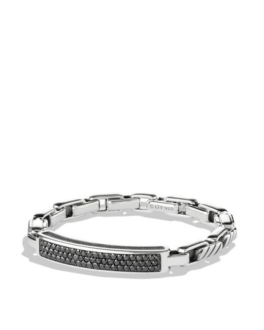 David Yurman | Metallic Modern Cable Id Bracelet With Black Diamonds for Men | Lyst