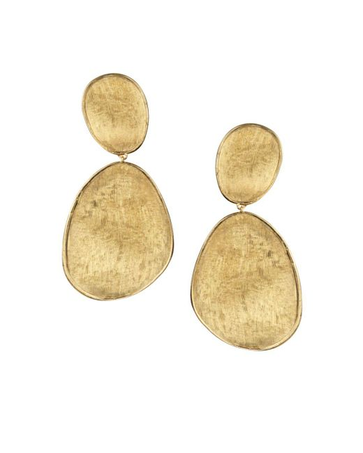 Marco Bicego - Metallic 18k Yellow Gold Lunaria Two Drop Earrings - Lyst