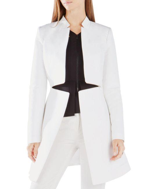 BCBGMAXAZRIA - White Arelia Long Jacket - Lyst