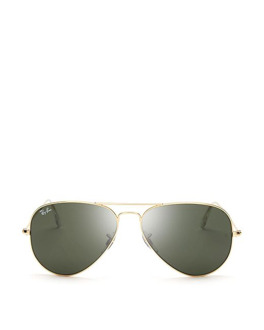 Ray-Ban | Metallic Original 62mm Aviator Sunglasses | Lyst