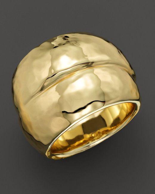 Ippolita | Metallic 18k Gold Glamazon Hammered Band Double Wrap Ring | Lyst
