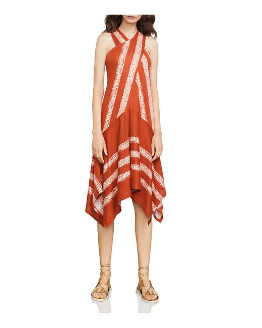 BCBGMAXAZRIA | Red Ada Asymmetric Dress | Lyst