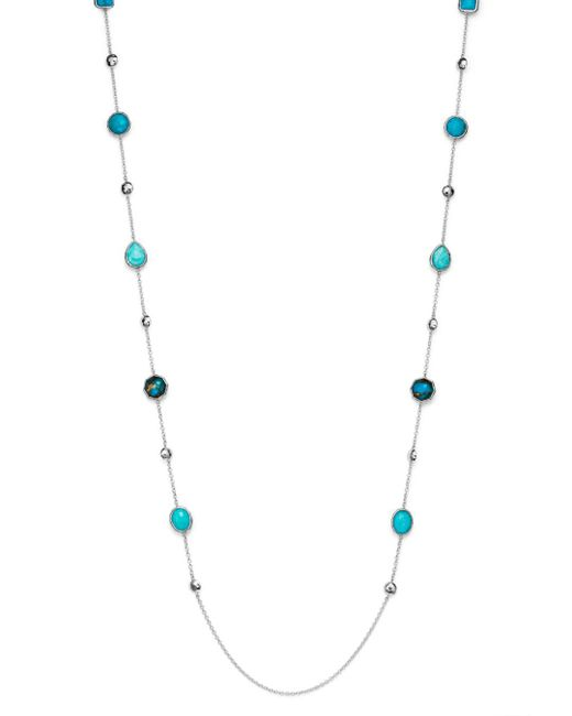 Ippolita - Blue Amazonite Doublet And Mixed Turquoise Station Necklace - Lyst