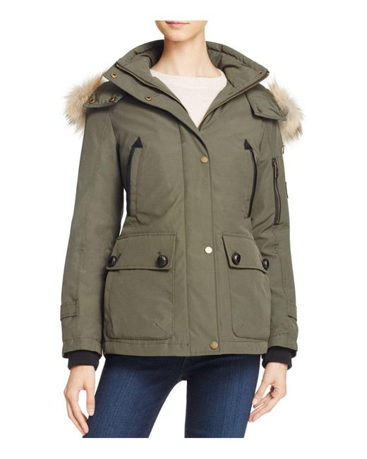 Pendleton - Green Bachelor Fur Trim Down Coat - Lyst