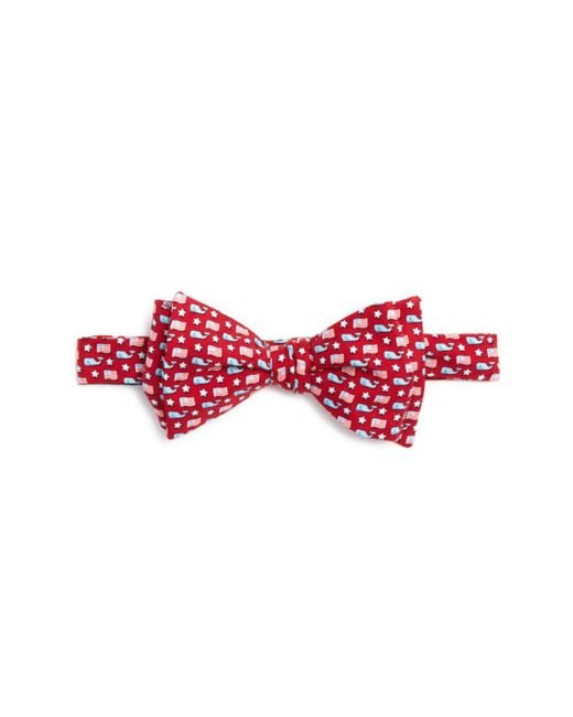 Vineyard Vines - Red Whale And Flag Bow Tie for Men - Lyst