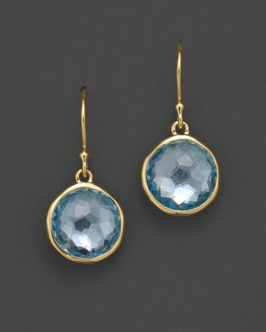 Ippolita - Metallic 18k Gold Lollipop Earrings In Blue Topaz - Lyst