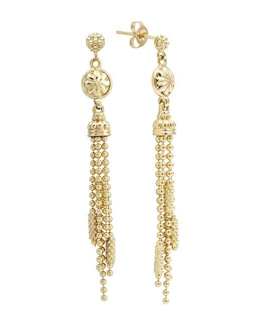 Lagos | Metallic 18k Gold Drop Earrings | Lyst