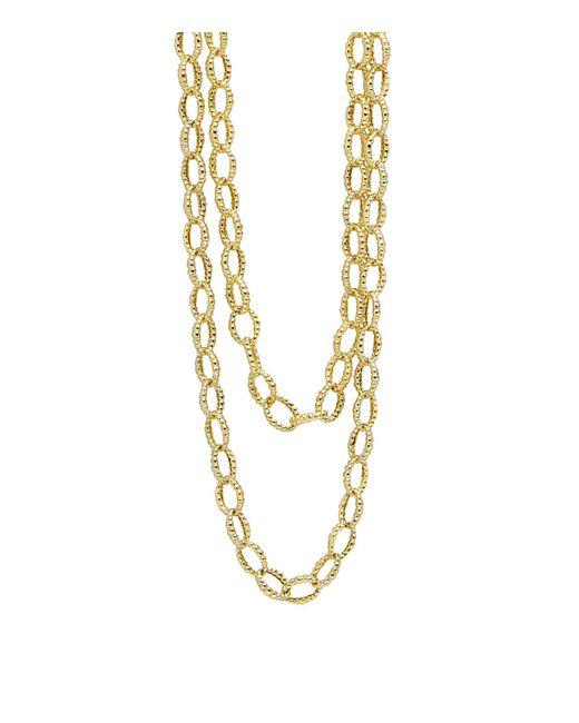 "Lagos   Metallic 18k Gold Necklace, 39""   Lyst"