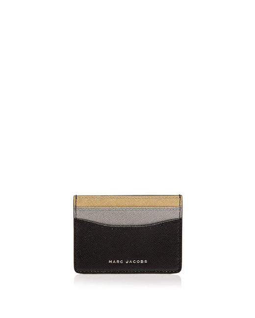 Marc Jacobs | Black Tricolor Saffiano Leather Card Case | Lyst