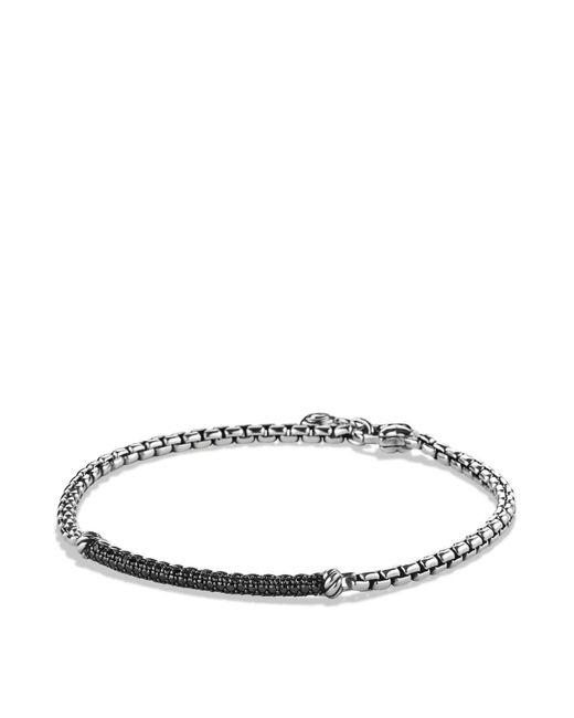 David Yurman | Metallic Petite Pavé Bar Metro Bracelet With Black Diamonds | Lyst
