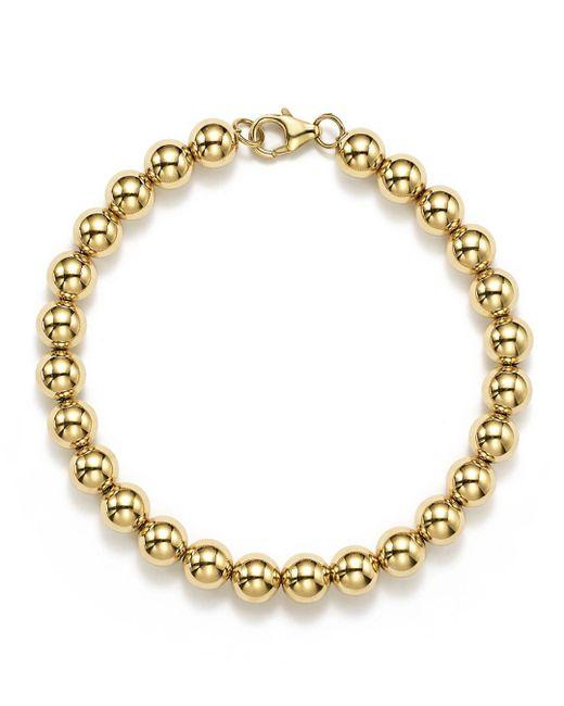 Bloomingdale's Metallic 14k Yellow Gold Beaded Bracelet
