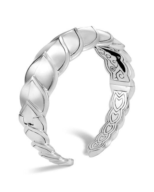 John Hardy - Metallic Sterling Silver Legends Naga Medium Kick Cuff - Lyst