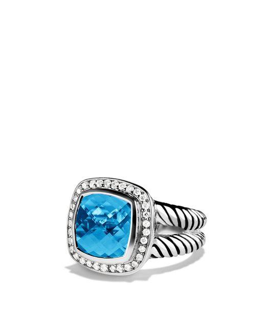 David Yurman | Metallic Albion Ring With Blue Topaz & Diamonds | Lyst