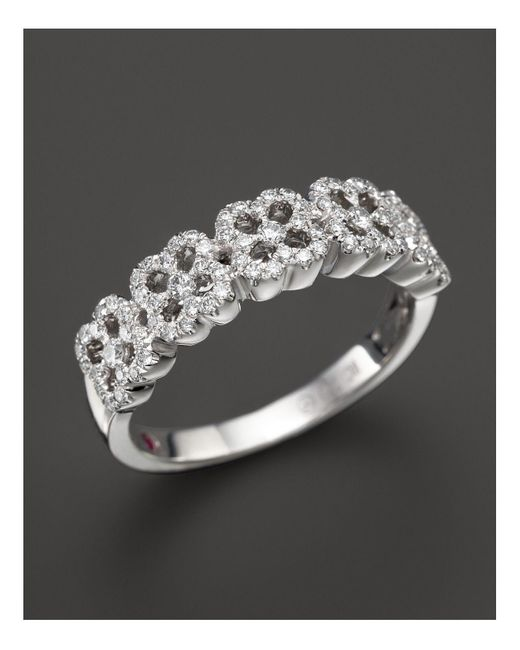 Roberto Coin | 18k White Gold Pavé Diamond Ring | Lyst