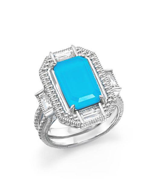 Judith Ripka - Multicolor Sterling Silver Doublet Baguette Ring - Lyst