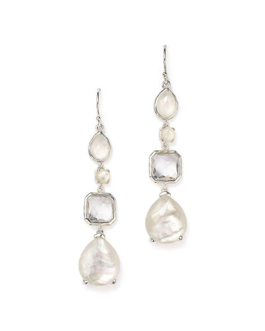 Ippolita | White Sterling Silver Rock Candy® Clear Quartz And Mother-of-pearl Drop Earrings | Lyst