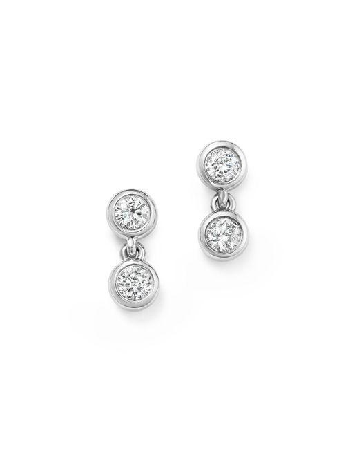 KC Designs | 14k White Gold Diamond Double Bezel Earrings | Lyst