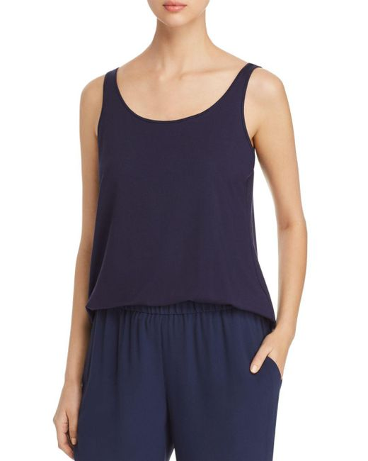 Eileen Fisher - Blue System Scoop Neck Tank - Lyst
