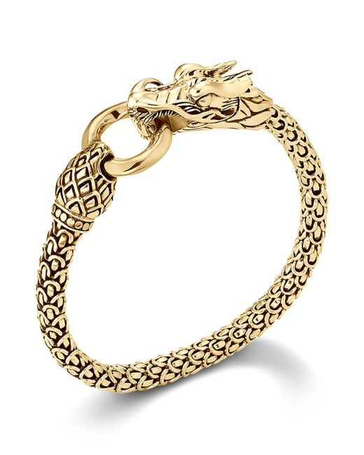 John Hardy | Metallic Naga 18k Yellow Gold Dragon Bracelet With Gold Ring | Lyst