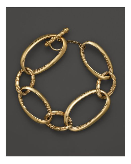 John Hardy | Metallic Kali 18k Yellow Gold Large Link Bracelet | Lyst