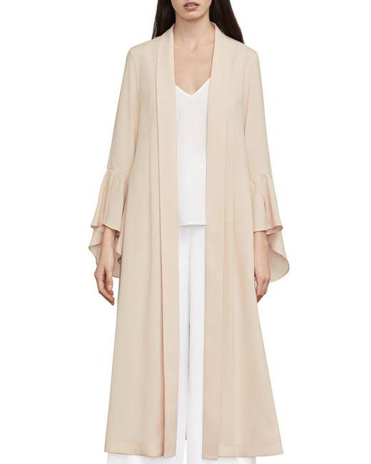 BCBGMAXAZRIA - Natural Dina Bell Sleeve Robe Jacket - Lyst