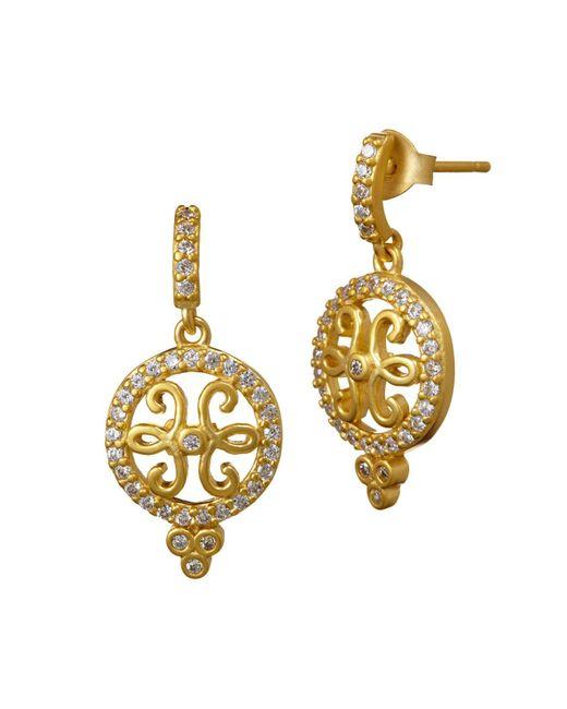 Freida Rothman | Metallic Open Filigree Drop Earrings | Lyst