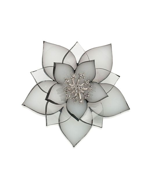 Carolee | Gray Flower Pin | Lyst
