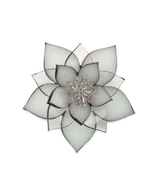 Carolee - Gray Flower Pin - Lyst