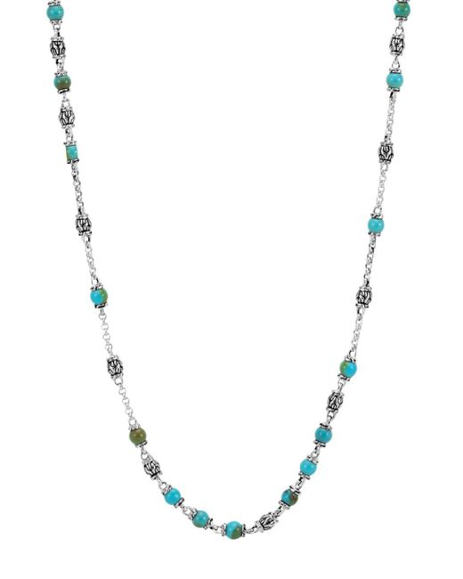 John Hardy - Metallic Men's Classic Chain Silver & Turquoise Bead Necklace for Men - Lyst