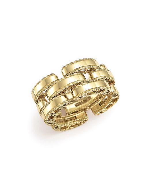 Roberto Coin | Metallic 18k Yellow Gold Retro Ring | Lyst