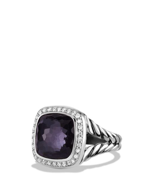 David Yurman - Multicolor Albion Ring With Black Orchid And Diamonds - Lyst
